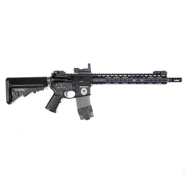 WA GAS-BLK M4 NOVESKEタイプ カスタム フルメタル ガスブローバック ドットサイト付き!_画像2