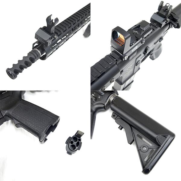 WA GAS-BLK M4 NOVESKEタイプ カスタム フルメタル ガスブローバック ドットサイト付き!_画像3