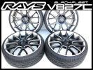 RAYS/レイズ★ブラックフリートV827C(20×8.5J)&Hankook(225/30)4本セット:バリ山/美品/状態良