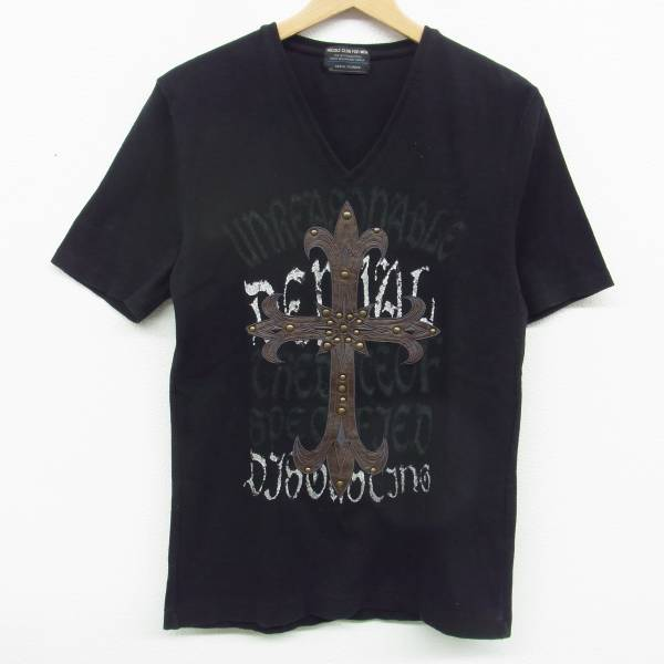 NICOLE CLUB FOR MEN 二コル VネックリブTシャツ カットソー 48