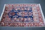 アンティーク家具 【カシミール絨毯】 シルク100% インド産