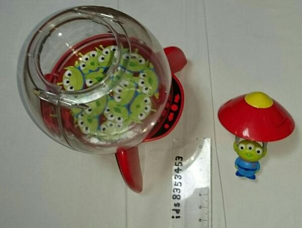 リトルグリーンメン エイリアン ロケット風ケース 人形 ディズニーグッズの画像