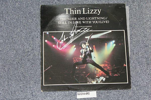サイン入/シンリジィ Thin Lizzy/Thunder and Lightning 12