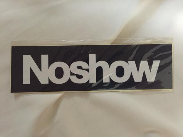【新品/未開封】Noshow ステッカー2枚set