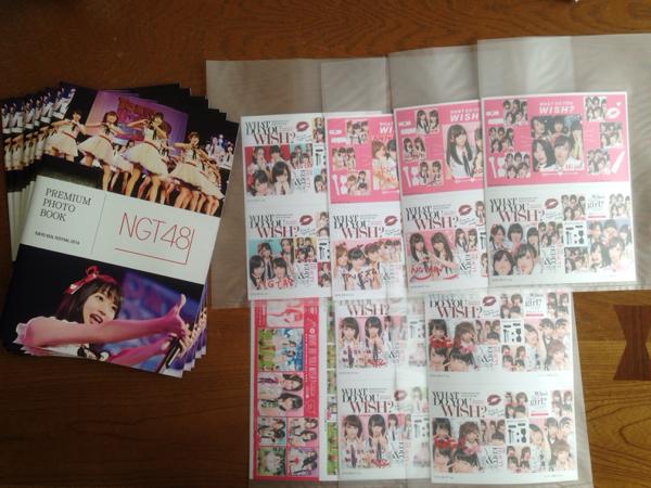 NGT48 TIF×神の手 フォトブック&プリクラシート7種 ライブグッズの画像