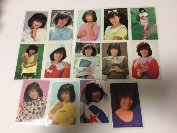 柏原芳恵(柏原よしえ) ラミネートカード写真 14枚 当時物