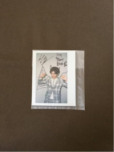韓国 俳優 ソンジュン 直筆サイン チェキ サイン