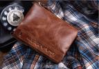 高級 本革 二つ折り 財布小銭入れあり 短財布 ブラウン/F230