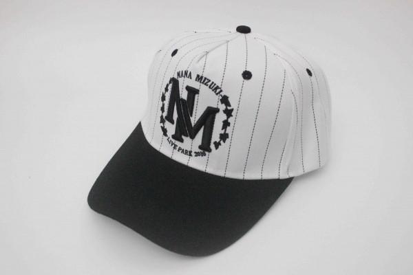 未使用 水樹奈々 NANA MIZUKI LIVE PARK 2016 帽子 キャップ 白黒ストライプ