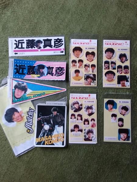 近藤真彦 ステッカー&シール&ハンカチ コンサートグッズの画像