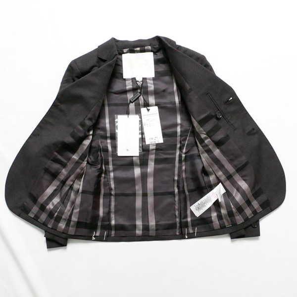 新品 バーバリー ウールジャケット 8Y ネイビー 49297_画像3