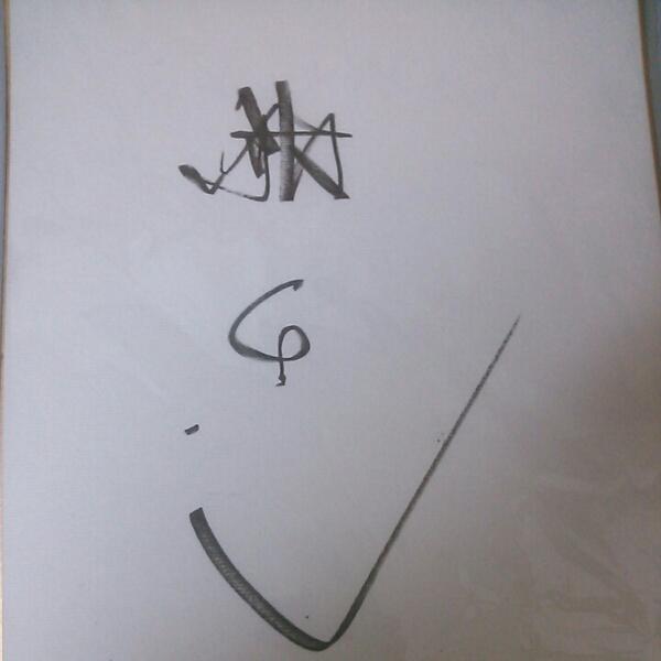 舘ひろし直筆サイン色紙