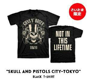 ガンズアンドローゼズ さいたまスーパーアリーナ限定 Tシャツ新品 XL 東京スカル GUNS N' ROSES SKULLS AND PISTOLS CITY-TOKYO BABYMETAL  ライブグッズの画像