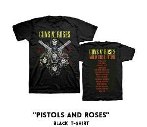 ガンズアンドローゼズ ワールドツアーTシャツ新品 XL PISTOLS AND ROSES GUNS N' ROSES BABYMETAL ガンズアンドローゼス ライブグッズの画像