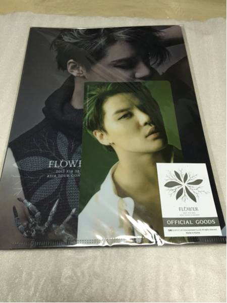 XIAジュンス FLOWER 2015 3RD ASIA TOUR CONCERTクリアファイル セットJYJ