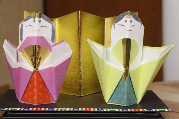 雛人形 紙細工(小)月作 94×高さ95×37mm 季節、年中行事&ひな祭り&ひな人形