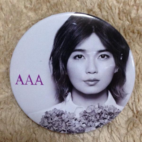 AAA 宇野実彩子 ドーム公演会場購入特典 缶バッジ 新品!