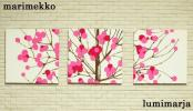◇marimekkoファブリックパネル◇Lumimarja◇ピンク◇ルミマルヤ