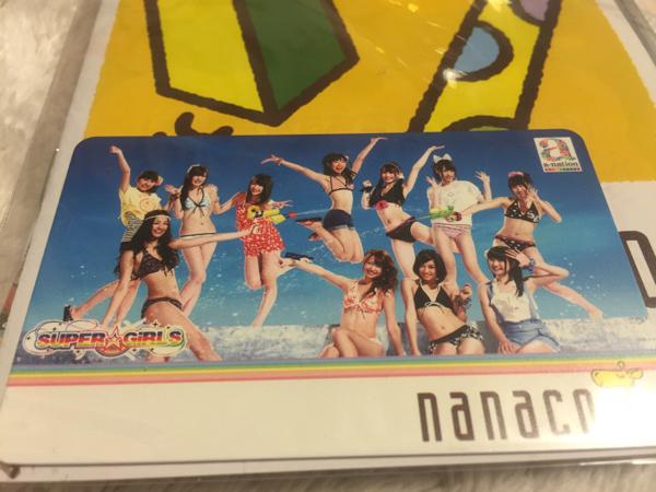 SUPER☆GiRLS nanacoカード a-nation限定 ナナコカード 新品 ライブグッズの画像