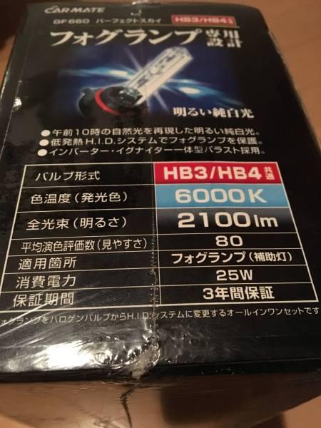 カーメイト GIGA フォグ 用 HID GF660 パーフェクトスカイ 6000K_画像3