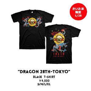 GUNS N'ROSES さいたま限定 Tシャツ Lサイズ 1/28 DRAGON 28TH-TOKYO ガンズアンドローゼス