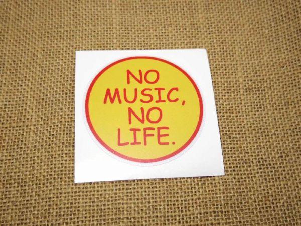 NO MUSIC NO LIFE シール丸型7.5cm / ステッカー タワレコ