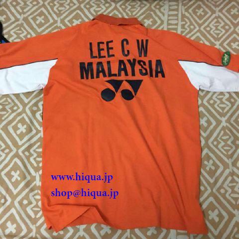 LCW ユニフォムリーチョンウァイオレンジ2007年 Indonesia BWF Open R16公式戦本人使用済み_画像2