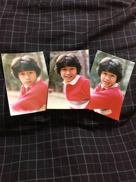 ○送料無料○ 生写真プロマイド 近藤真彦 (赤) コンサートグッズの画像