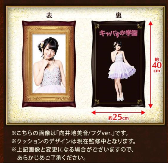 AKB48 神の手 込山榛香 キャバすか学園 クッション 名刺