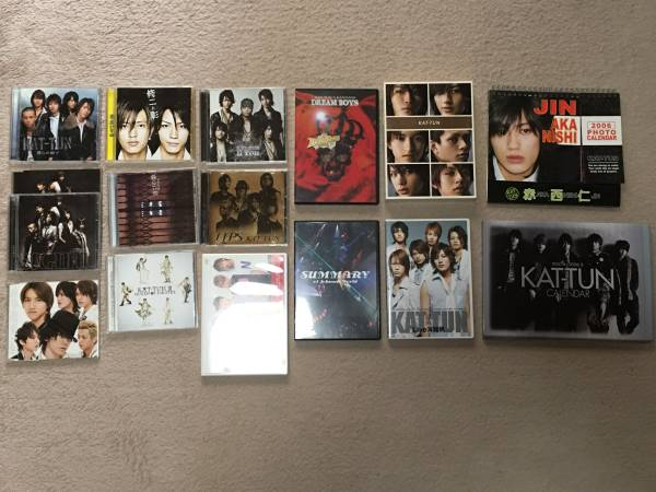KAT-TUN ジャニーズ DVD CD カレンダーなど16点セット 亀梨和也 赤西仁 田口淳之介 田中聖 上田竜也 中丸雄一