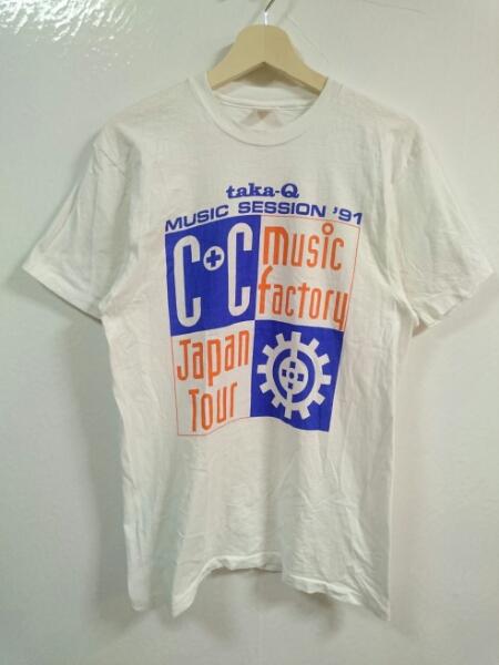 90s USA製 C+C MUSIC FACTORY ジャパンツアー Tシャツ L