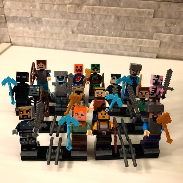 レゴ互換◆マインクラフト 剣 ミニフィグ 16体セット☆レゴ対応 グッズの画像