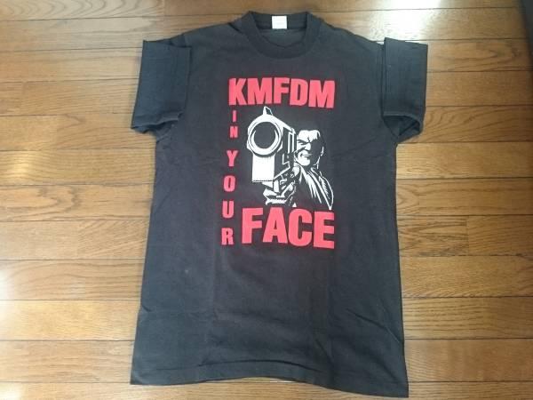 送無/極美品/USA製/1995年/KMFDM/Tシャツ/デッド?/M