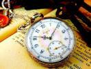 美しい文字盤への装飾 ELGIN(エルジン)のアンティーク懐中時計 ヴィンテージ エナメル 芸術品 機械式 手巻き レトロ 彫金 ウォッチ
