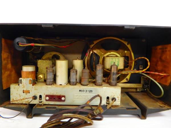 ナショナル MT管 トランスレス5球スーパーラジオ AM-335 昭和レトロ ジャンク National 管B1703_画像3