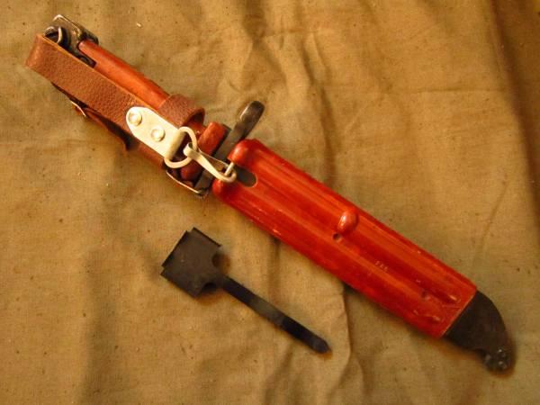 ソ連軍 6kh4 (6Х4) 銃剣 ラバーブレード バヨネット AKM AK74 ④ ソビエト ロシア_画像3