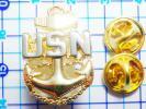 米海軍USNアンカーピンバッジ:Navy トップガンTOPGUN アメリカ錨
