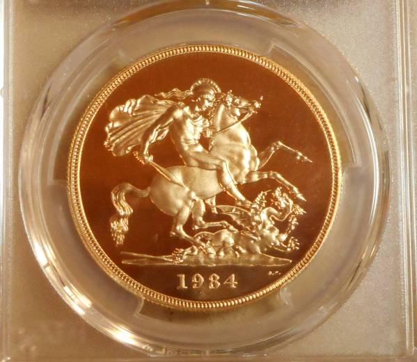 ◆◆イギリス 5P金貨 エリザベス 1984年 PCGS PR69 DCAM_画像2