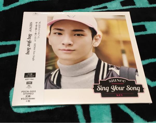 SHINee★Sing your song★FC盤 CD ♪ キー KEY★ 未開封品