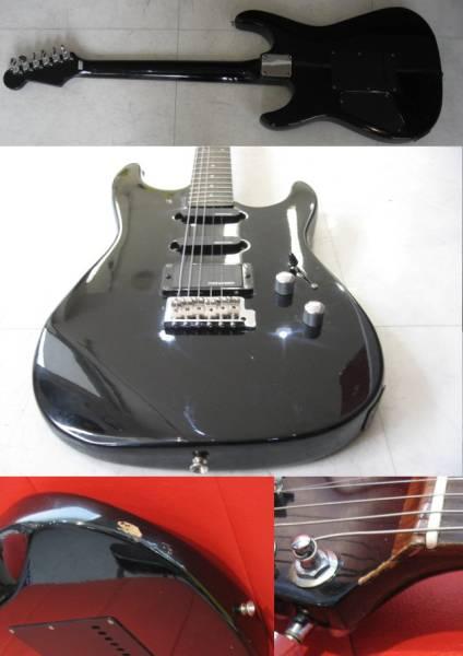 41◆即決◆フェルナンデス・ストラト型エレキギター  タップ式? ノンピックガードタイプ ※中古品 ブラック_画像3