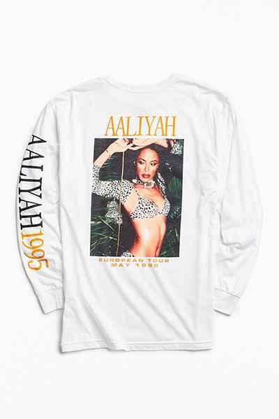 Aaliyah 1995 Long Sleeve Tシャツ TLC カニエ NIRVANA raptee M