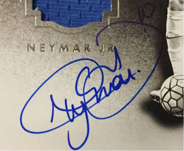 2016 Noir Soccer Neymar JR ネイマール Auto サイン Jersey /35