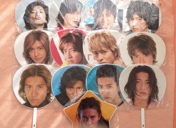 【SMAP】ジャンボうちわ 木村拓哉 まとめて 13枚 コングッズ コンサートグッズの画像
