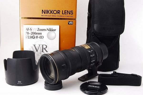 【美品】Nikon ニコン AF-S 70-200mm f2.8G ED VR 送料無料