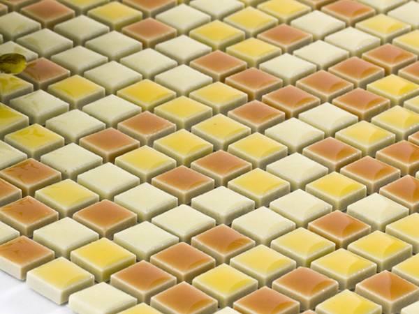 美濃焼モザイクタイルシート 10mm角 可愛いビタミンミックス♪ (10SQ-MIX01,4B,4E,3D)