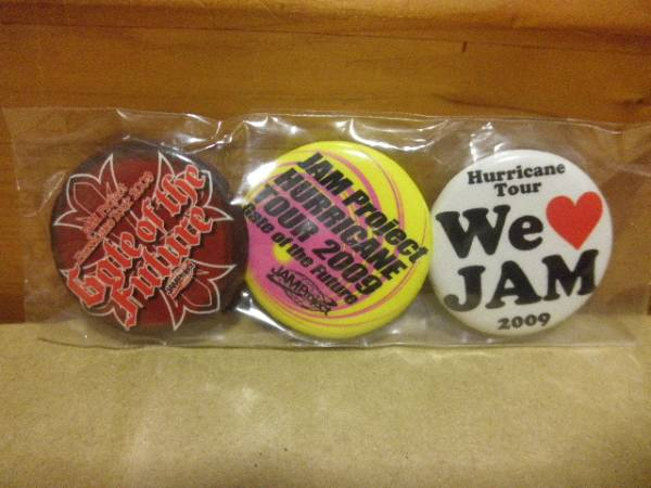 JAM Project Hurricane Tour 2009 缶バッジ 3個