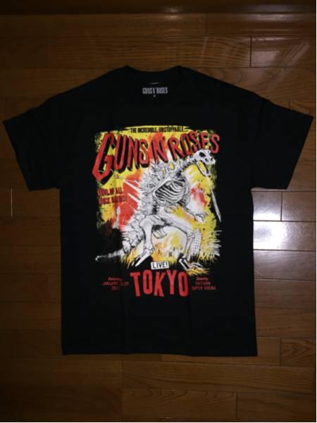 Guns N' Roses ガンズアンドローゼズ 2017 1/28,29 さいたま限定 ZILLA Tシャツ Mサイズ 新品 未着用 ライブグッズの画像