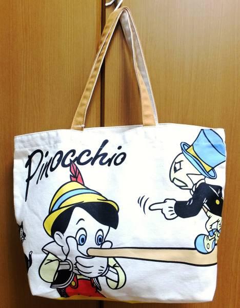 ディズニーストア ピノキオ トートバッグ ディズニーグッズの画像