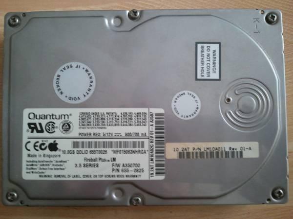 値下交渉OK■ Quantum QOLID 655T0026 APPLE HDD 10GB G4 取外品