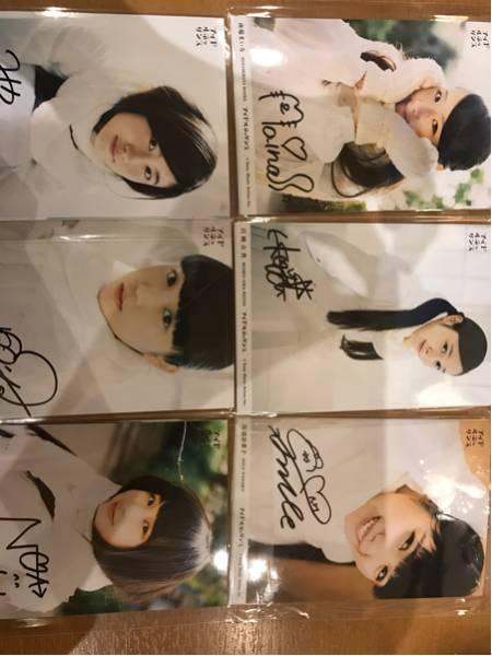 アイドルネッサンス生写真 6セット 各1枚ずつサイン入